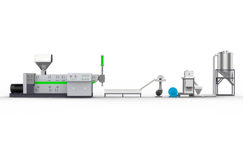 خط آلة إعادة تدوير الخردة الصلبة ذات المرحلة الواحدة