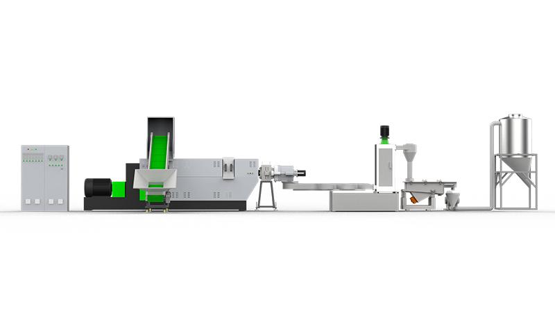 آلة ضغط وإعادة تدوير الأفلام البلاستيكية